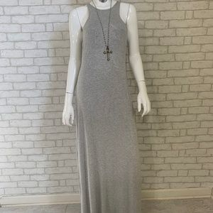 Rolla Coster Grey Flowy Sleeveless maxi dress - L